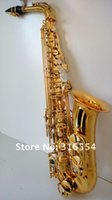 Wholesale system Alto saxophone with golden lacquered alto sax professional DiDa musical instrument