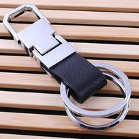 alloy waist chain - Fashion Mens Womens Genuine Leather Waist Hanging Car Keychains Metal Alloy Key Chain Keyring Business Gift