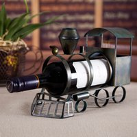 art holders - TOOARTS Train wine bottle holder Iron art Creative bottle holder Classic bottle holder Practical Decoration Craftrs A024
