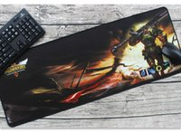 Wholesale Conputer New mm mm Large Gaming Mouse Pad Mat for CS CF LOL Character WOW Laptop Computer Black