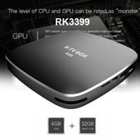 al por mayor ac wifi-4GB 32GB Rockchip RK3399 Hexa Núcleo 64bit TV R-TV K99 Soporte Smart Media Player AC WIFI 1000M LAN Tipo C Bluetooth