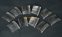 Wholesale NEW Silver cm Metal wire comb hair band for sinamay fascinator kentucky derby