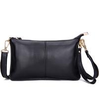Wholesale 2017 new hot sale fashion Casual Genuine Leather Messenger Bag Famous Brand Women Shoulder Bag Envelope Women Crossbody bag