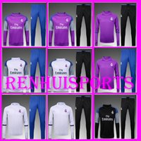 Wholesale Men s sports suit Real Madrid Jersey pieses or more free to send DHL Real Madrid Training suits Jacket jerseys