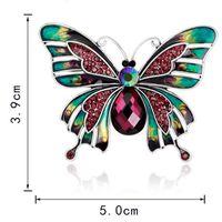 Joyas Vintage Esmalte Grande Esmaltes Mariposa Broches Broche Corsage Lote Broche Violetta Insecto Hijab Pin Up Broches 170738