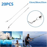 beach leader - 20pcs set Fishing Lure Line Trace Steel Wire Leader Swivel Spinner Lines cm cm cm