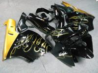 Carrosserie en ABS après-vente pour Kawasaki ZX-9R 1994-1997 ZX9R 94 95 96 97 flammes d'or Kit de carrosserie de moto