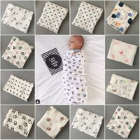 Cheap newborn baby muslin blanket packaging baby quilt Bath towel gauze jacquard cotton Europe style printed baby package towel blankets