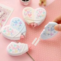 Wholesale pair Love Heart Correction Tape Material Escolar Kawaii Stationery Office School Supplies Papelaria m