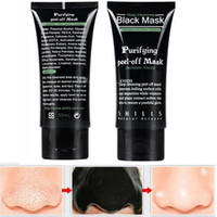 Wholesale DHL SHILLS Black Mask Blackhead Remover Deep Care Cleansing Peel Off Black Mud Mask Purifying Peel Acne Black Heads Remover Pore Facial Mask