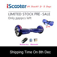 Wholesale UK stock iScooter Hoverboard Electric Skateboard Self Balancing Scooter two inch Wheel with Led Bluetooth Speaker inch hover board
