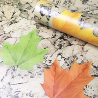 adhesive glue for bricks - Hot Sale D maple leaf wallpapers self adhesive wallpapersWith Glue Boston ivy Self adhesive Brick Wallpaper Mural Rolls for Household Art