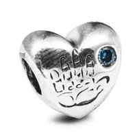 Wholesale Baby Boy Blue CZ Sterling Silver Beads Fit Pandora Charms Bracelet Authentic DIY Fashion Jewelry