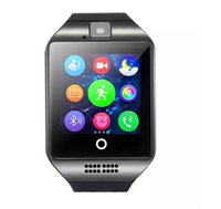 Acheter Suivi de connexion-Q18 montres intelligentes pour téléphones Android Bluetooth Smartwatch avec appareil photo Original q18 Support Tf SIM carte Slot Bluetooth NFC Connection best