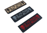 Wholesale New Punisher Skull quot SI VIS PACEM PARA BELLUM quot mm Embroidered Badge Clothing Backpack cap patch Boost Morale Armband