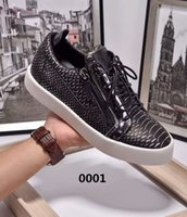 Wholesale 45 Off Black White Male s Calfskin Leather Soft and Massage AAA Quality Italy Luxury Brand Footwear