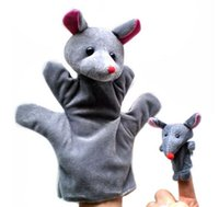 Wholesale paternity hand kid marionette puppet animal finger even bears big bear hand puppet pinkie even paternity toys brinquedos