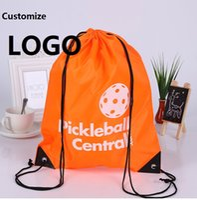Wholesale Customize Polyester drawstring backpack bags print LOGO waterproof drawstring Shopping Storage bags Customization