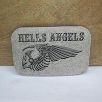 achat en gros de ceinture d'argent antique-BuckleHome hells anges boucle de ceinture 2 couleurs disponibles avec finition argent antique Livraison gratuite