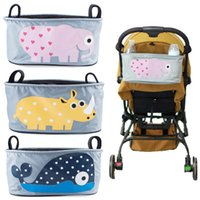 Wholesale Cute Cartoon Animal pattern Large capacity baby stroller Basket Baby Carriage Cart Bottle Diaper Bag Nappy Bag Stroller bag