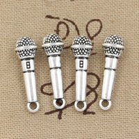 Wholesale Cents Charms microphone mm Antique Making pendant fit Vintage Tibetan Silver DIY bracelet necklace