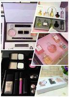 bb puff - makeup sets pack Set Cosmetic Set Makeup medium Mascara Eyeliner Lipstick Lip Gloss blush BB cream puff Cosmetic Set with brand C logo