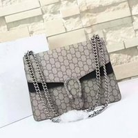 Wholesale New style cm Gg Brand Ladies Bag Leather Women s Handbag Luxury Brand Name Women Bag High Quality Real Leather Shoulder Bag purse