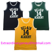 air dancing - New Jersey state Jersey Fresh Prince Will Smith Bel Air New Yellow Black Green Jersey dance cosido