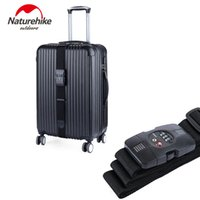 baggage security - Naturehike Nylon Travel Suitcase Straps Dial TSA Security Lock Customs Luggage Strapping Belt Packing Baggage Belts cm