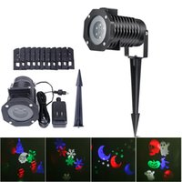 Wholesale DHL Christmas Waterproof Snowflake Landscape Laser Spotlight LED Projector Stage Light for Holiday Outdoor Garden Decoration