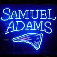beer england - England Patriots Samuel Adams Lager Neon Sign Custom Handmade Real Glass Tube Store Beer Bar KTV Club Advertising Display Neon Signs quot X14 quot