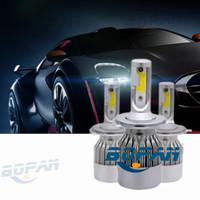 Wholesale Hot C6 H1 H3 H7 H11 HB3 HB4 Hight Bright COB C6 Car LED Headlight H4 H13 Hi Lo Beam w LM Headlamp FREE