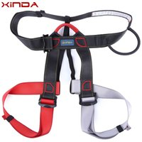 belay device - XINDA Professional safety climbing Belt rock climbing mountaineering belt downhill harness rappel Rescue belay device equipment