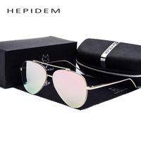 aviation coatings - Hot New Men s Fashion Aviation Sunglass Women Brand Designer Aviador Sun Glasses Rays Flat Coat Sunglasses with box case g
