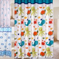 animal friendly brands - 2016 Brand New cm High Quality Abstract Cartoon Colorful Ocean Lovely Fish Animal Pattern Bathroom Fabric Shower Curtain