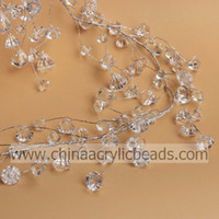 Wholesale Assorted MM Crystal Diamond Faceted Beaded Branch Wire Garland ft Wedding Party Decoratiion