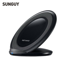 achat en gros de qi récepteur sans fil pad de charge-SUNGUY Qi sans fil recharge rapide chargeur Pad Receiver adaptateur charge rapide pour Samsung Galaxy s6 / s7
