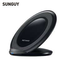 Wholesale SUNGUY Qi Wireless Charging fast charger Pad Receiver Adapter Fast Charge for Samsung Galaxy s6 s7
