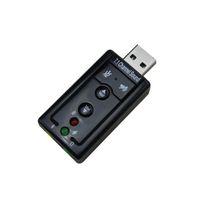 Wholesale External USB AUDIO SOUND CARD ADAPTER VIRTUAL ch USB Mic Speaker Audio Headset Microphone mm Jack Converter