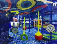 Wholesale Large scale colorful climbing network children to expand the rainbow indoor training years old Sample can be customized no1