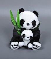 baby collectibles - 28cm Anime kungfu Panda plush toy Kawaii Mother Baby Panda stuffed doll Bamboo Panda kids toy stuffed collectibles doll for kids