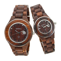 Casual best choice displays - Luxury Sandalwood Lovers Wristwatch With Date Display Fashion Japanese Quartz Movement Couple Watch Best Choice for Gifts