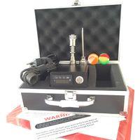 Wholesale Portable E dab Nail kit D electric dab nail quartz banger titanium domeless nail mm felmale male PID controller box kits