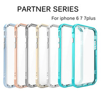 apple borders - New arrival in1 iphone7 plusd Case Soft TPU Clear Back Cover High quality PC Border Shakeproof cases For IPhone5 SE plus plus