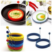 Wholesale Silicone Egg Ring Pancake Mold Eggs Shaper Kitchen Breakfast Cooking Tool Egg Poach Pancake Ring Mould Silicone Fried Egg Mold Tool F266