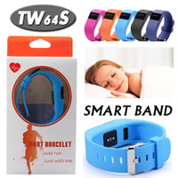Trackers de santé de bracelet Avis-Heart Rate Pulse SmartBand TW64S Pulso Inteligente Banda Pulse Measure Smart Band Sport Smart Wristband Health Fitness Tracker DH DHL gratuit