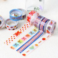 Wholesale Handmade DIY Tape Korean Colorful Fantasy Super Cute Cartoon Tape Transparent Plastic Decoration Adhesive By Random mm m