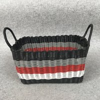basket weave china - Plastic storage bag woven baskets top handle bags Fruit And Vegetable Baske Design High Quality PP Material Storage Baskets