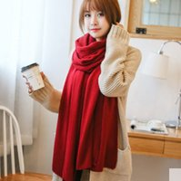 Wholesale Pure color scarf shawl and thickening han edition in the fall and winter warm cashmere scarf