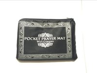 Wholesale pocket prayer mat with compass Muslim Worship Blanket Praying Mat Rugs red blue black dark green light green color
